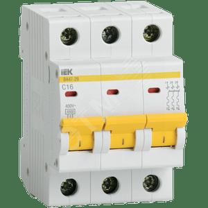 Выключатель автоматический 3п хар-ка D 25А ВА 47-29 ИЭК
