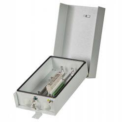 Ящик кабельный ЯКт-ПМ-40/20, 1 плинт ПВТ-10Р с винт. клеммой, оснащ. магазин защиты, трубостойка